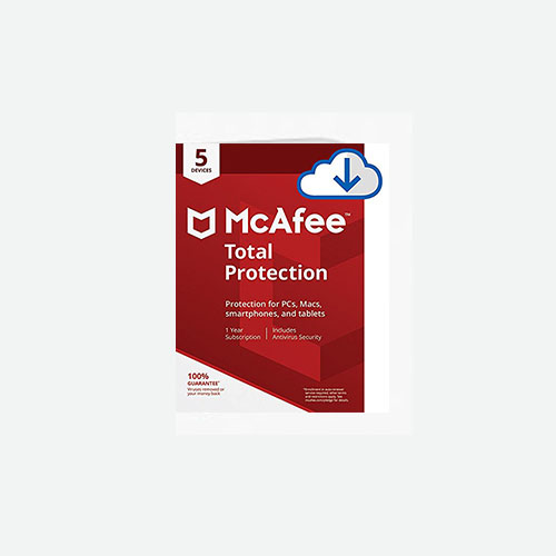 1 Year McAfee Total Protection 2019-10 Devices Download New or Renewal